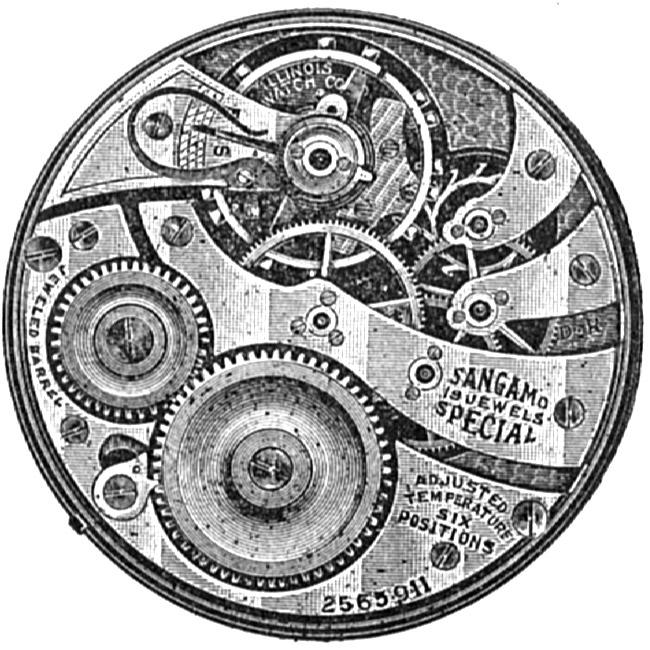 Illinois Grade Sangamo Special Pocket Watch Movement