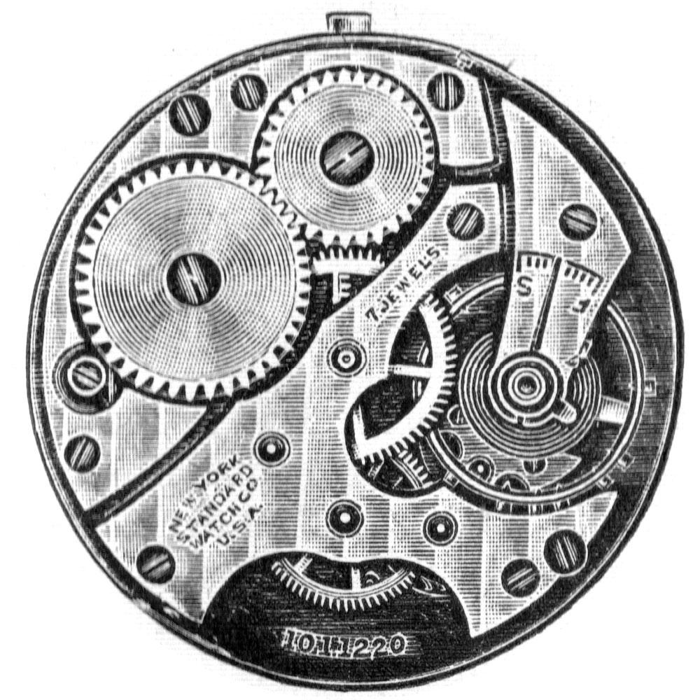 New York Standard Watch Co. Grade 173 Pocket Watch Movement