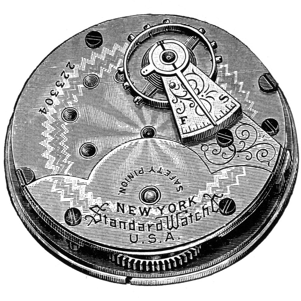 New York Standard Watch Co. Pocket Watch Grade 35 #250926