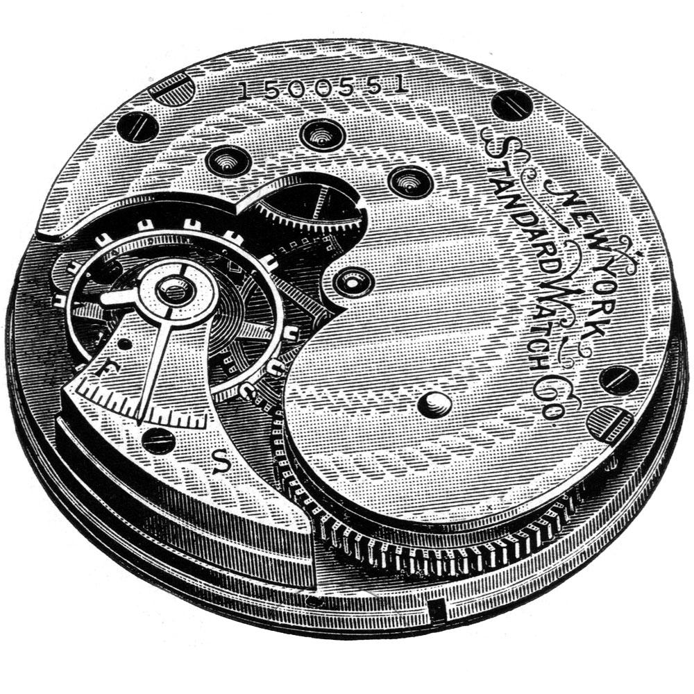 New York Standard Watch Co. Pocket Watch Grade 60 #1601731
