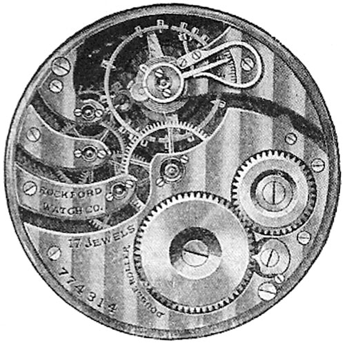Rockford Pocket Watch Grade 335 #792843