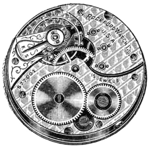 Rockford Grade 584 Pocket Watch Image