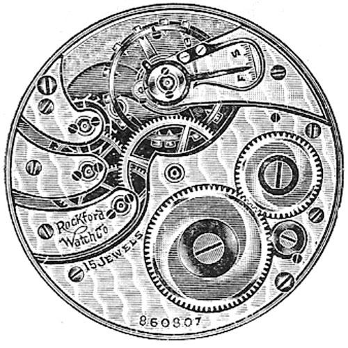 Rockford Pocket Watch Grade 587 #775931