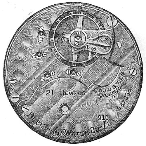 Rockford Pocket Watch Grade 910 #517808