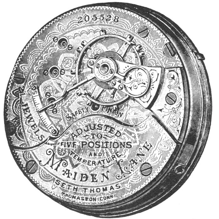 Seth Thomas Pocket Watch Grade Maiden Lane #379391