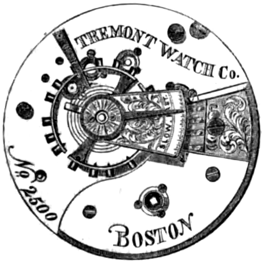 Tremont Watch Co. Grade Tremont Watch Co. Pocket Watch Movement