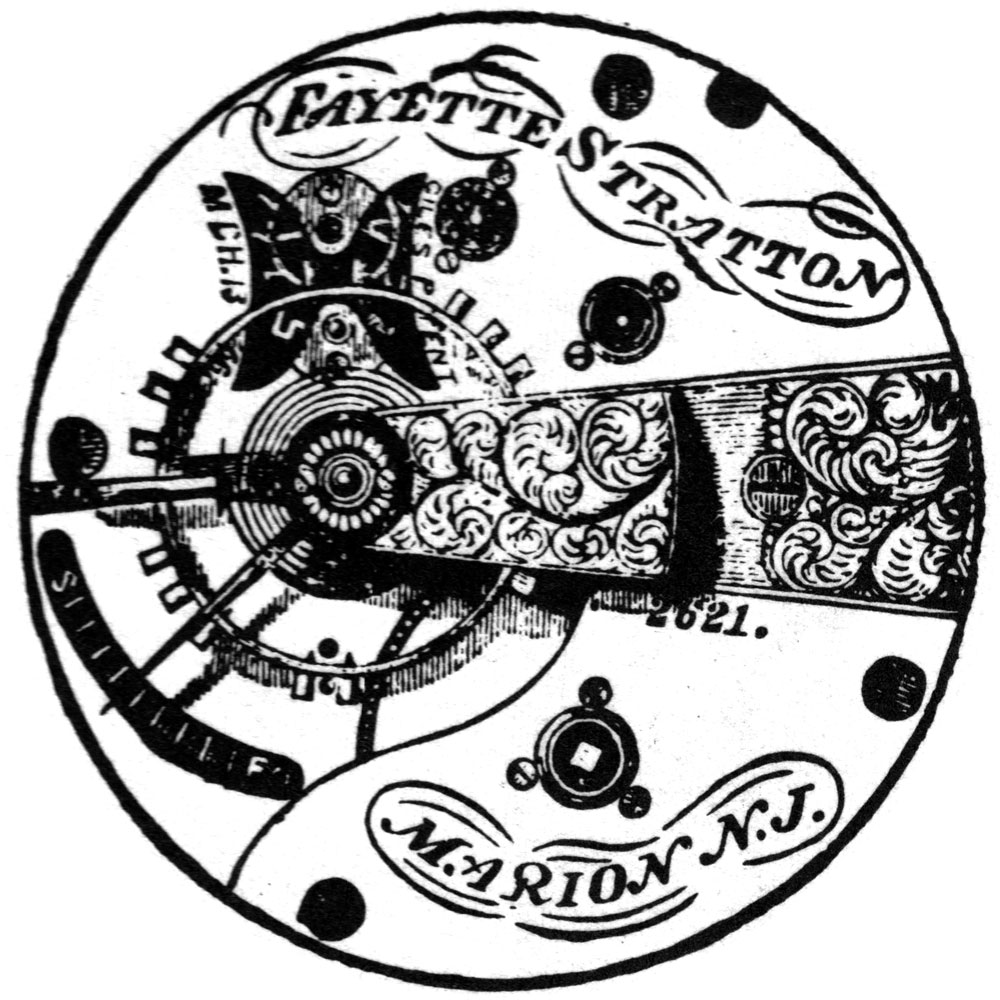 U.S. Watch Co. (Marion, NJ) Grade Fayette Stratton Pocket Watch Movement