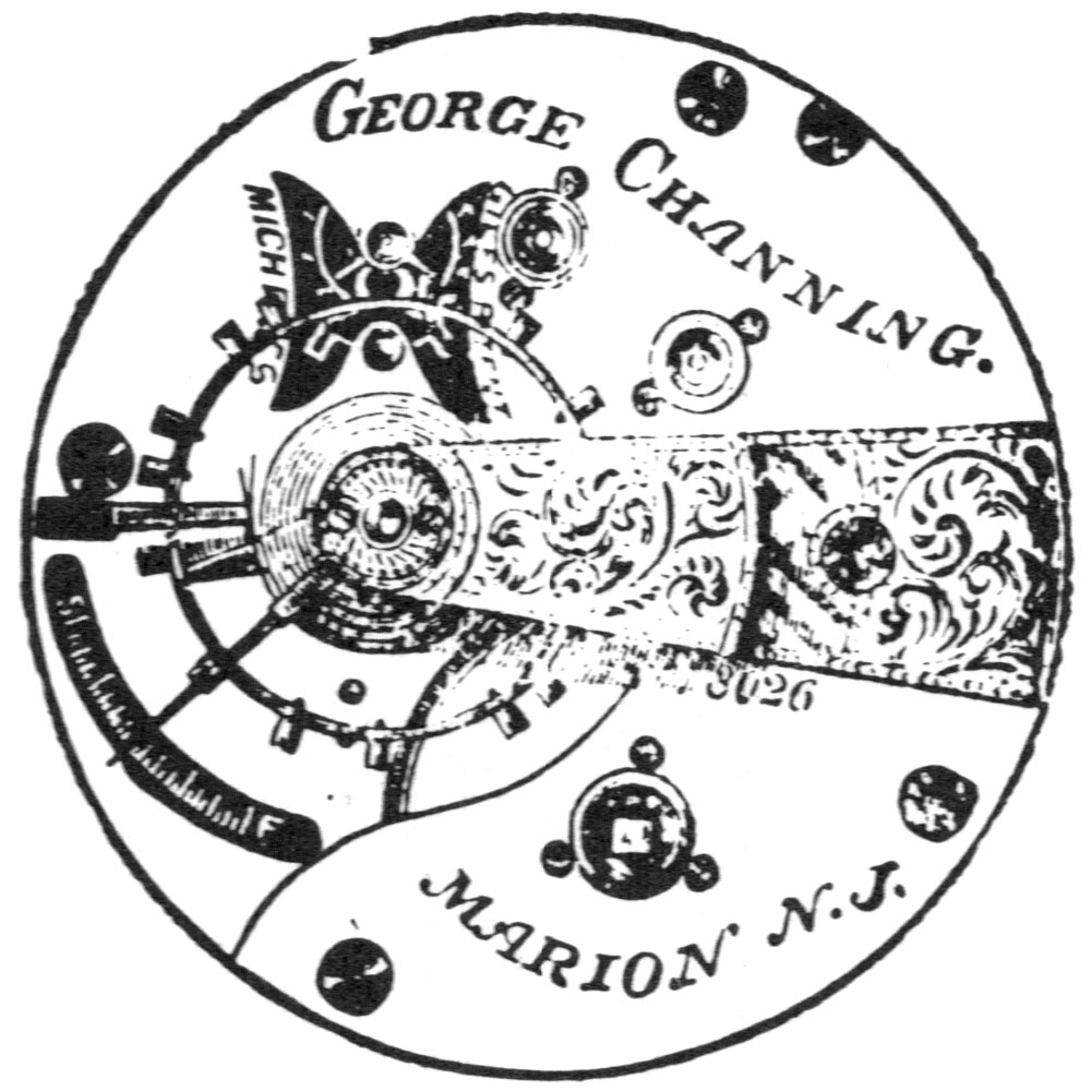 U.S. Watch Co. (Marion, NJ) Grade George Channing Pocket Watch Movement