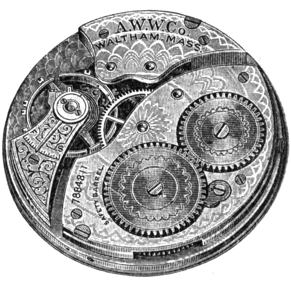 Waltham Grade No. 210 Pocket Watch Movement