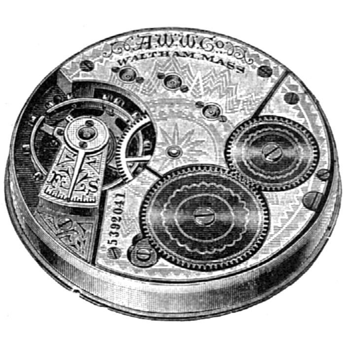 Waltham Pocket Watch Grade No. 24 #5798851