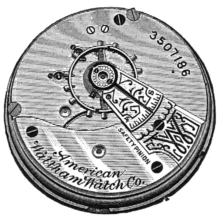 Waltham Grade No. 3 Pocket Watch Movement