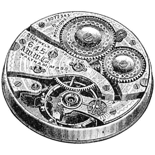 Waltham Grade No. 645 Pocket Watch Image