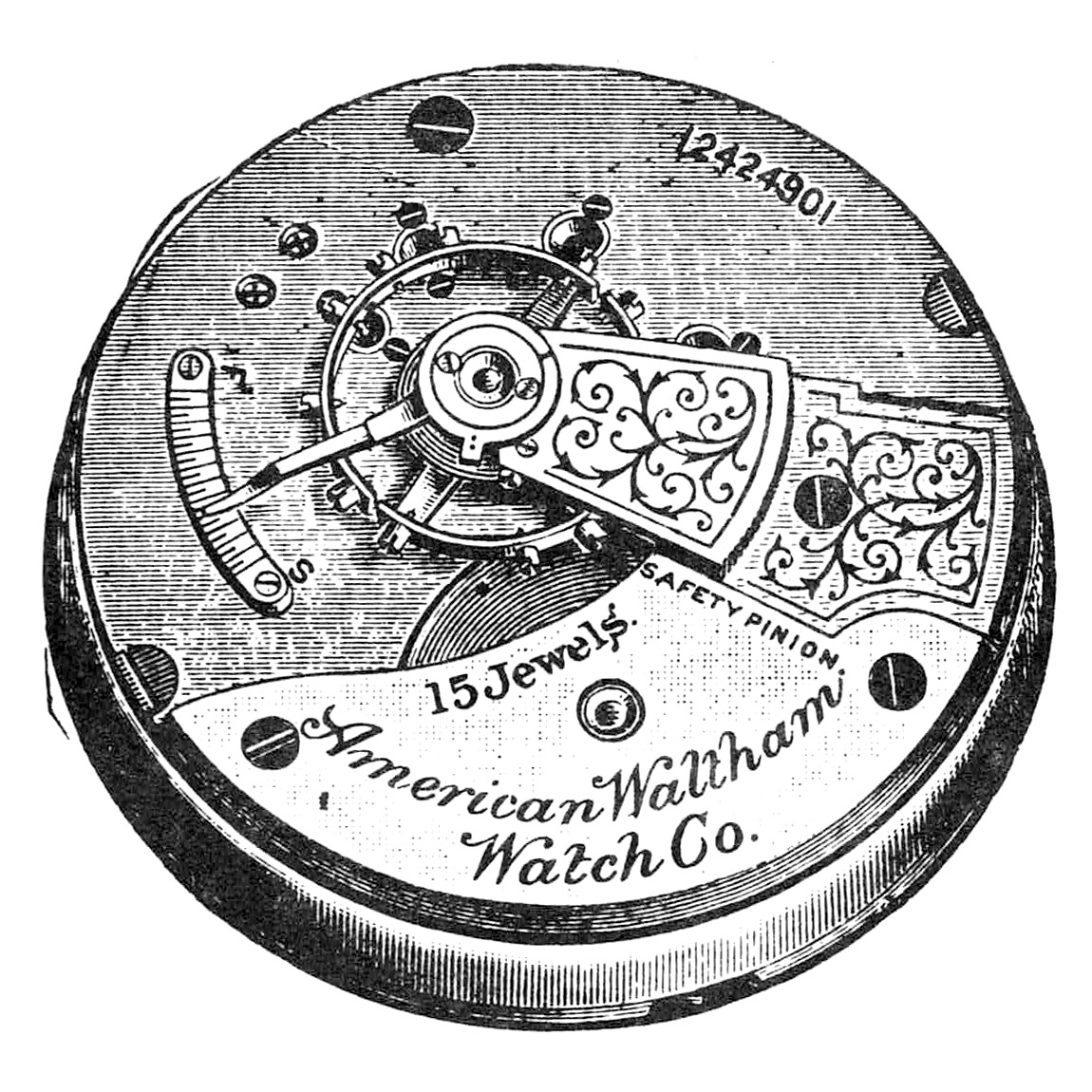 Waltham Pocket Watch Grade No. 81 #12862874