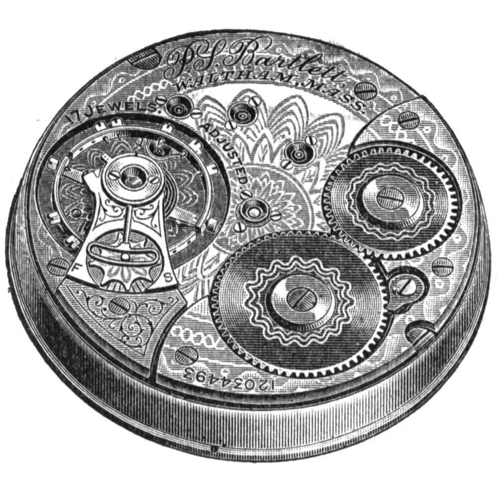 Waltham Grade P.S. Bartlett Pocket Watch Movement