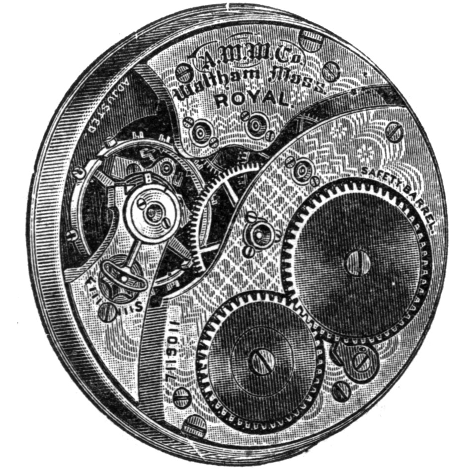 Waltham Grade Royal Pocket Watch Movement