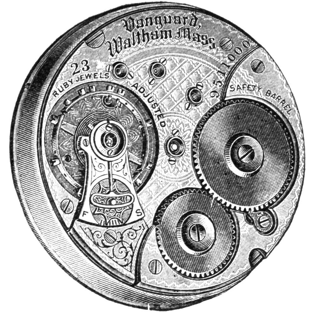 Waltham Grade Vanguard Pocket Watch Movement