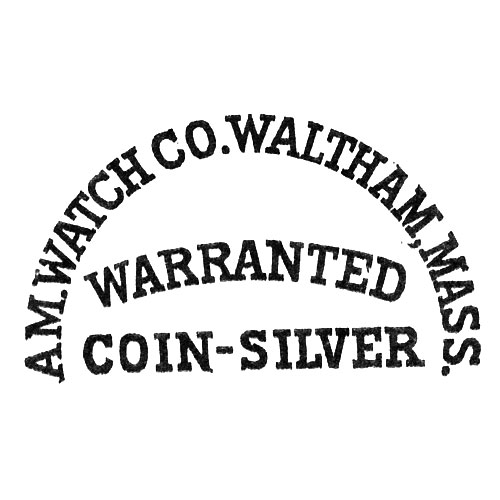 Am. Watch Co. Waltham, Mass. Warranted Coin-Silver (American Waltham Watch Co.)