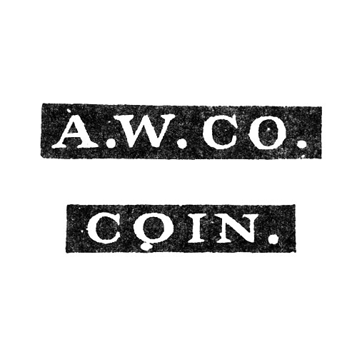 A.W.Co. Coin. (American Waltham Watch Co.)