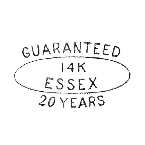 Guaranteed 14K Essex 20 Years (Courvoisier & Wilcox Manufacturing Co.)