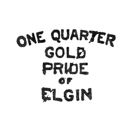 One Quarter Gold Pride of Elgin (Elgin Giant Watch Case Co.)