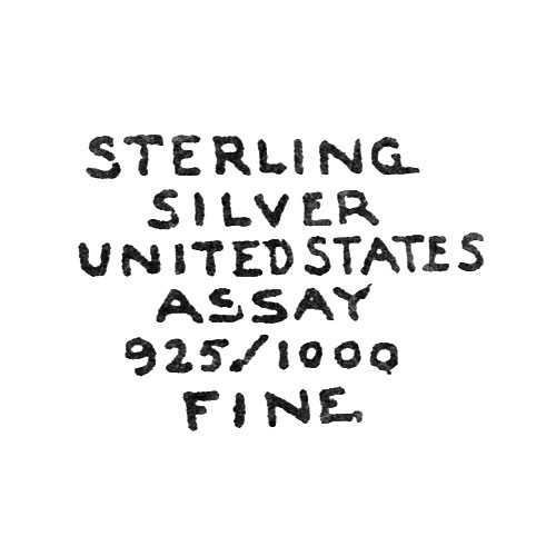 Sterling Silver United States Assay 925/1000 Fine (Elgin Giant Watch Case Co.)
