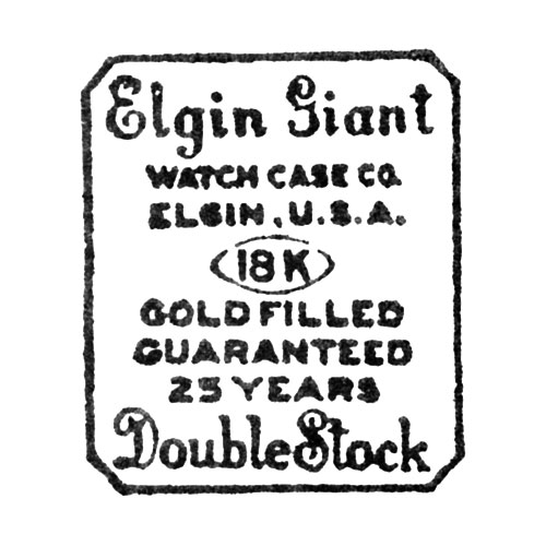 Elgin Giant Watch Case Co. Elgin, U.S.A. 18K Gold Filled Guaranteed 25 Years Double Stock (Elgin Giant Watch Case Co.)