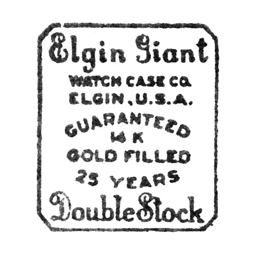Elgin Giant Watch Case Co. Elgin, U.S.A. Guaranteed 14 K Gold Filled 25 Years Double Stock (Elgin Giant Watch Case Co.)
