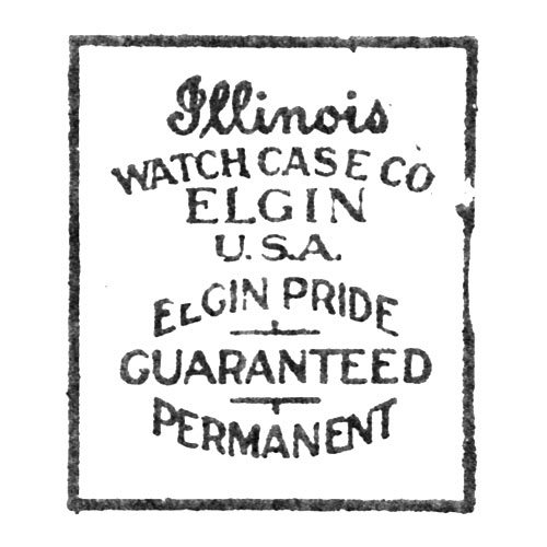 Illinois Watch Case Co. Elgin U.S.A. Elgin Pride Guaranteed Permanent (Elgin Giant Watch Case Co.)