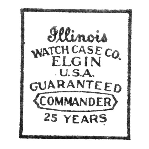 Illinois Watch Case Co. Elgin U.S.A. Guaranteed Commander 25 Years (Elgin Giant Watch Case Co.)