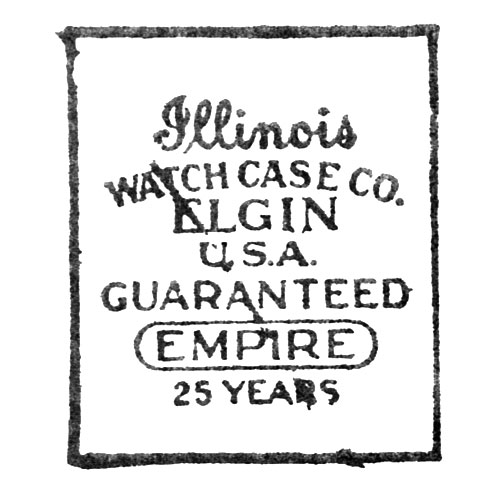 Illinois Watch Case Co. Elgin U.S.A. Guaranteed Empire 25 Years (Elgin Giant Watch Case Co.)