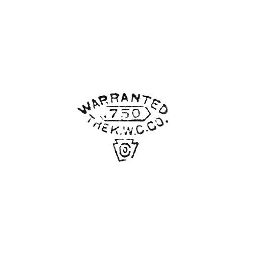 Keystone Watch Case Co  Trademark - 750 Warranted The K W C