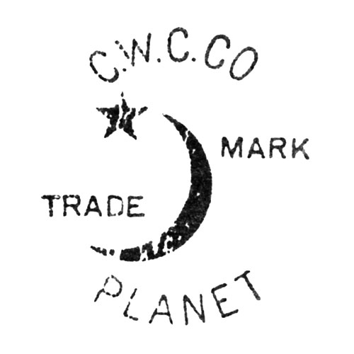 C.W.C.Co Trade Mark. [Crescent and Star] Planet (Keystone Watch Case Co.)