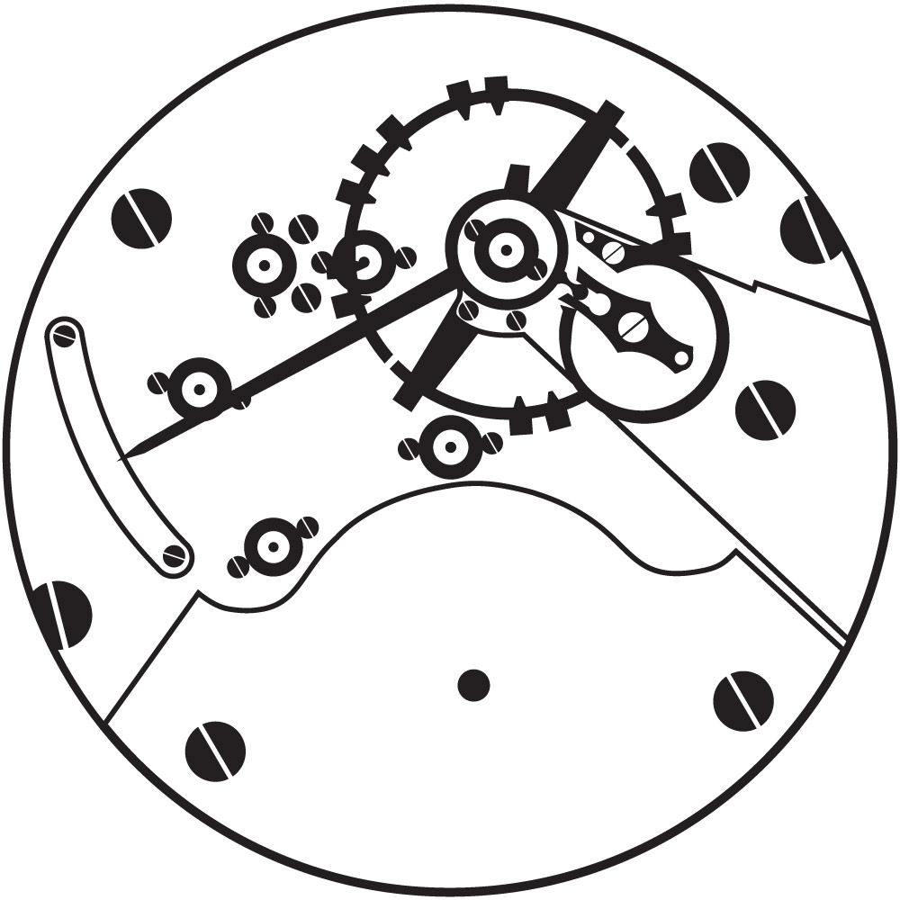 Hamilton Grade 7J Pocket Watch Movement