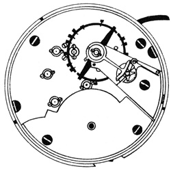 Hampden Grade Anchor (in shield) Pocket Watch Movement