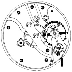 Hampden Grade No. 104 SR (in flag) Pocket Watch Movement