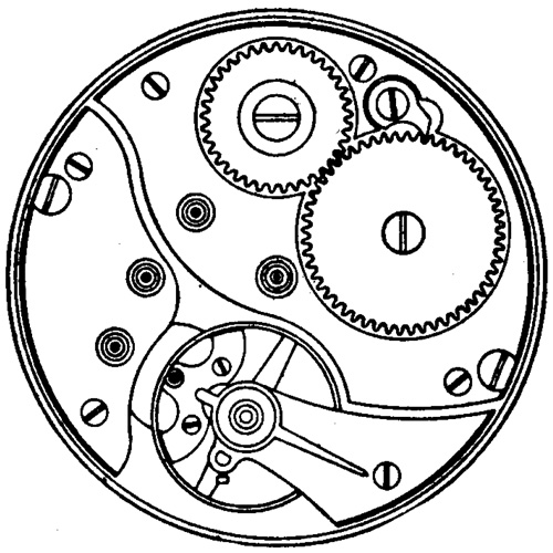 Illinois Grade 37 Pocket Watch Movement