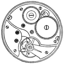 Illinois Grade 255 Pocket Watch Movement