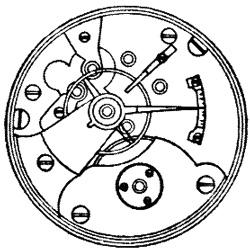 Rockford Grade Unknown Pocket Watch Movement