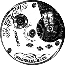 Waltham Grade A.T. & Co. Pocket Watch Movement