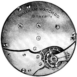 Waltham Grade 8 Day Pocket Watch Image