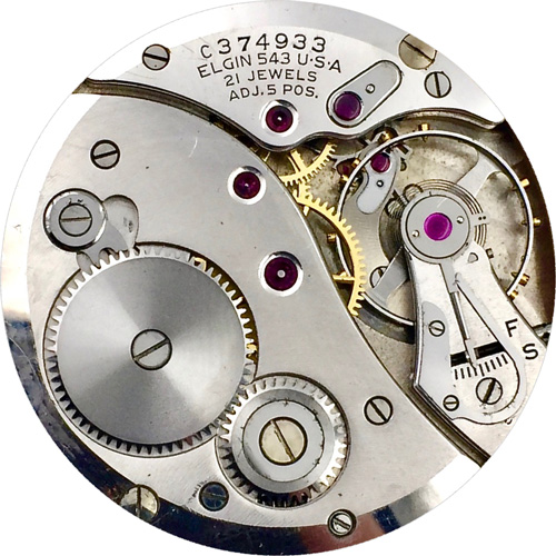 Elgin Grade 543 Pocket Watch Movement