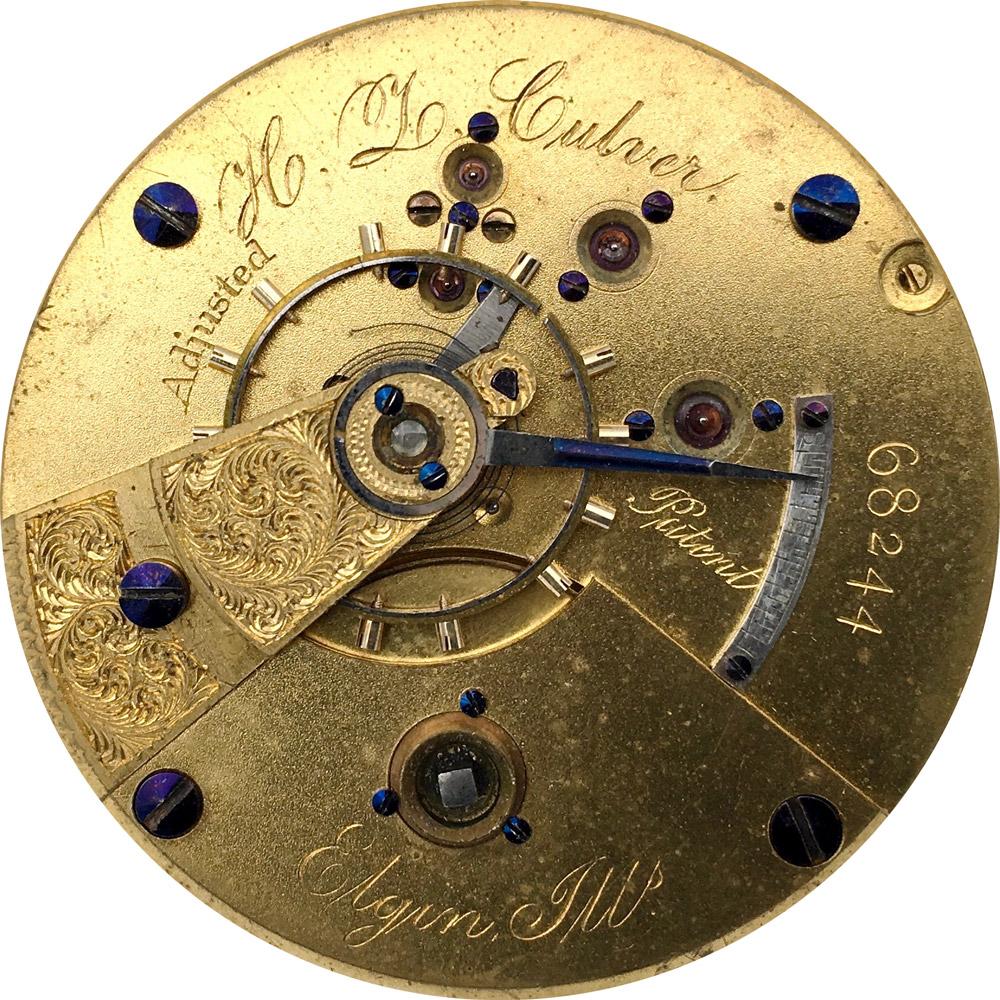 Elgin Grade 62 Pocket Watch Movement