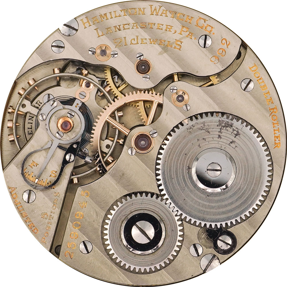 Hamilton Grade 992E Pocket Watch Movement