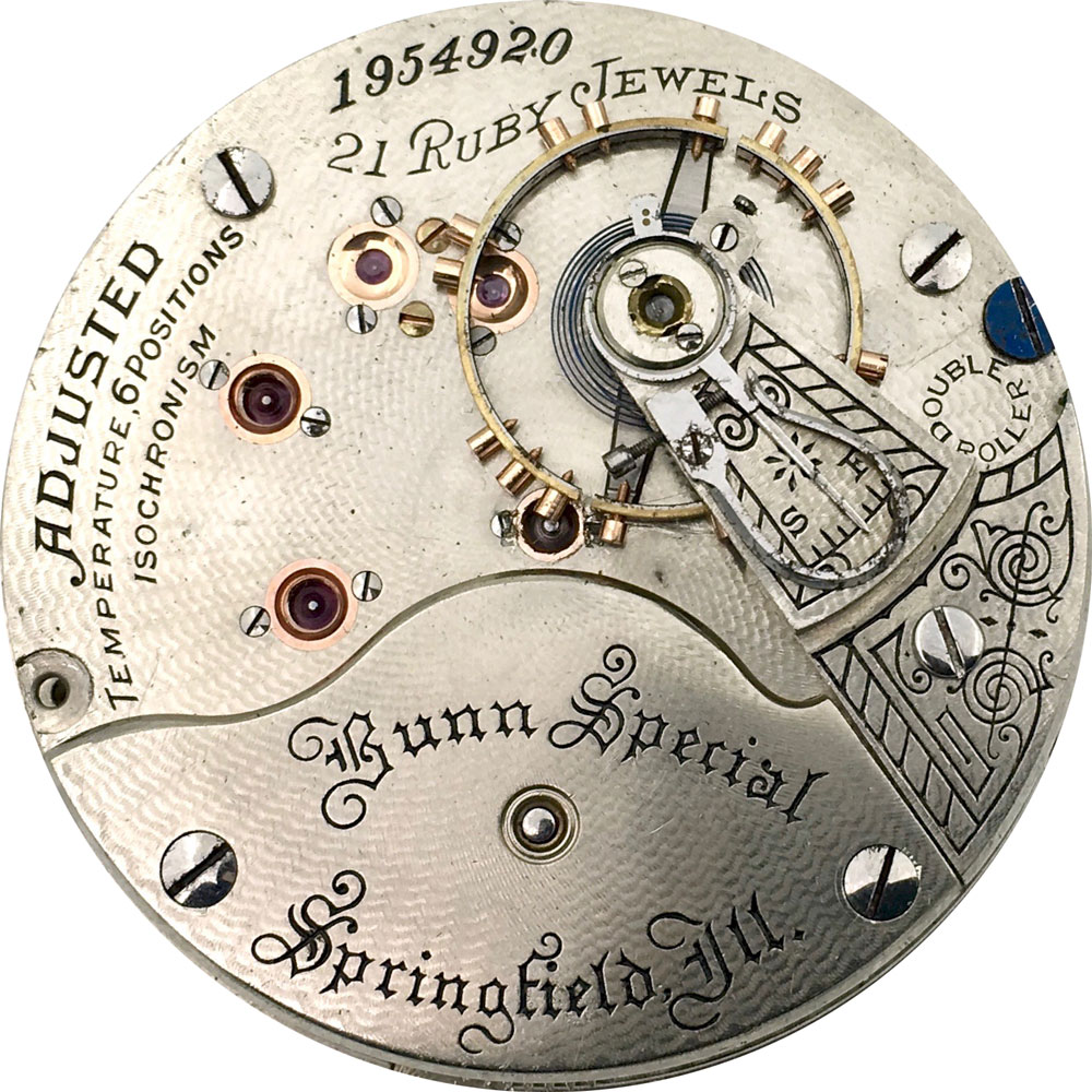 Illinois Grade Bunn Special Pocket Watch Movement