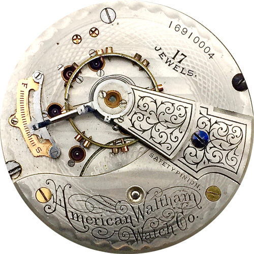 Waltham Grade No. 825 Pocket Watch Movement