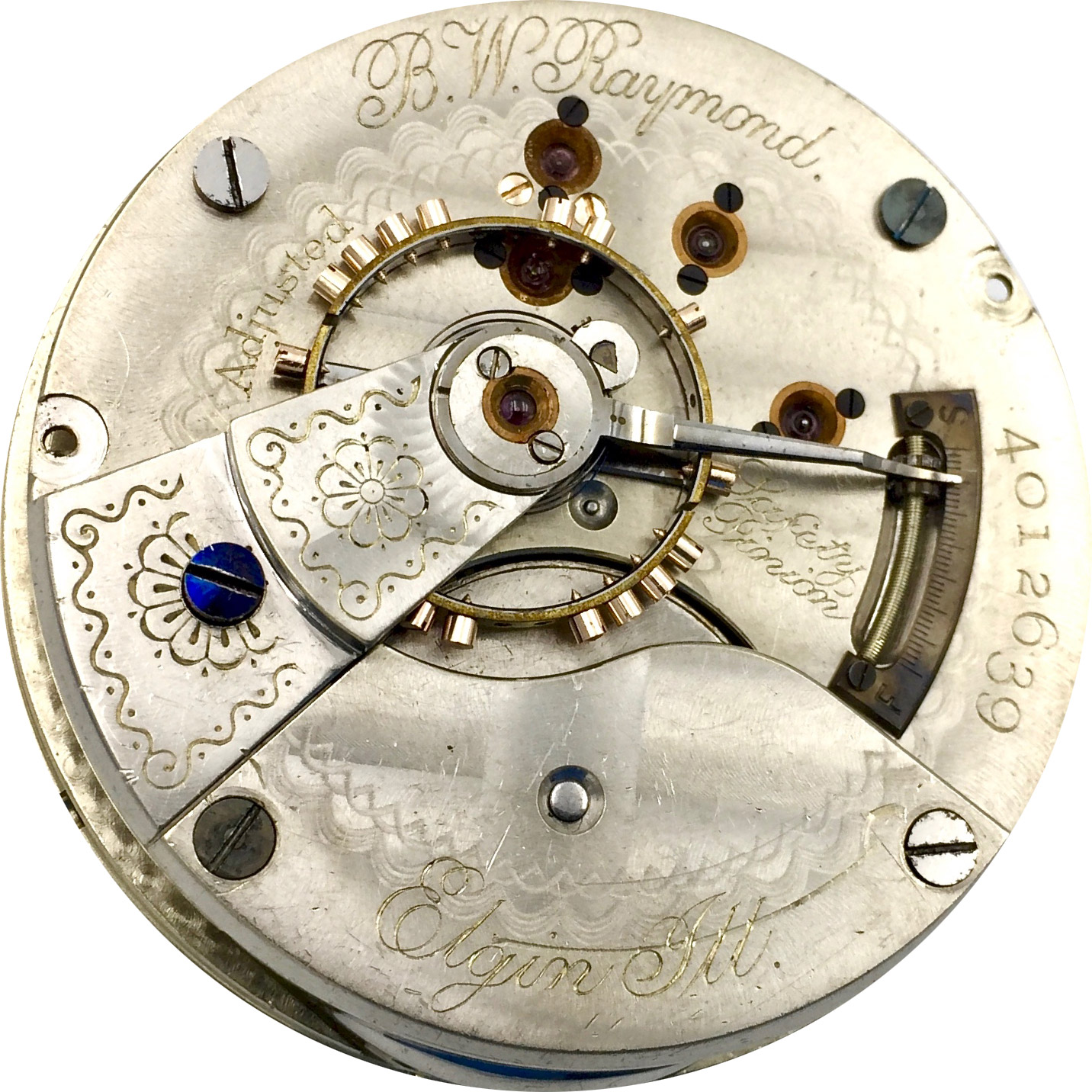 Elgin Pocket Watch Grade 27 #2702041