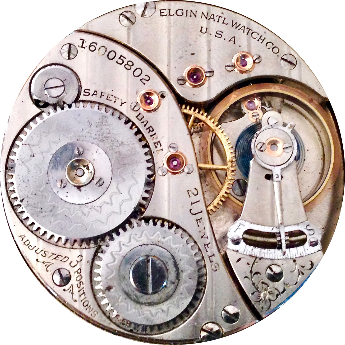 Elgin Grade 412 Pocket Watch Image
