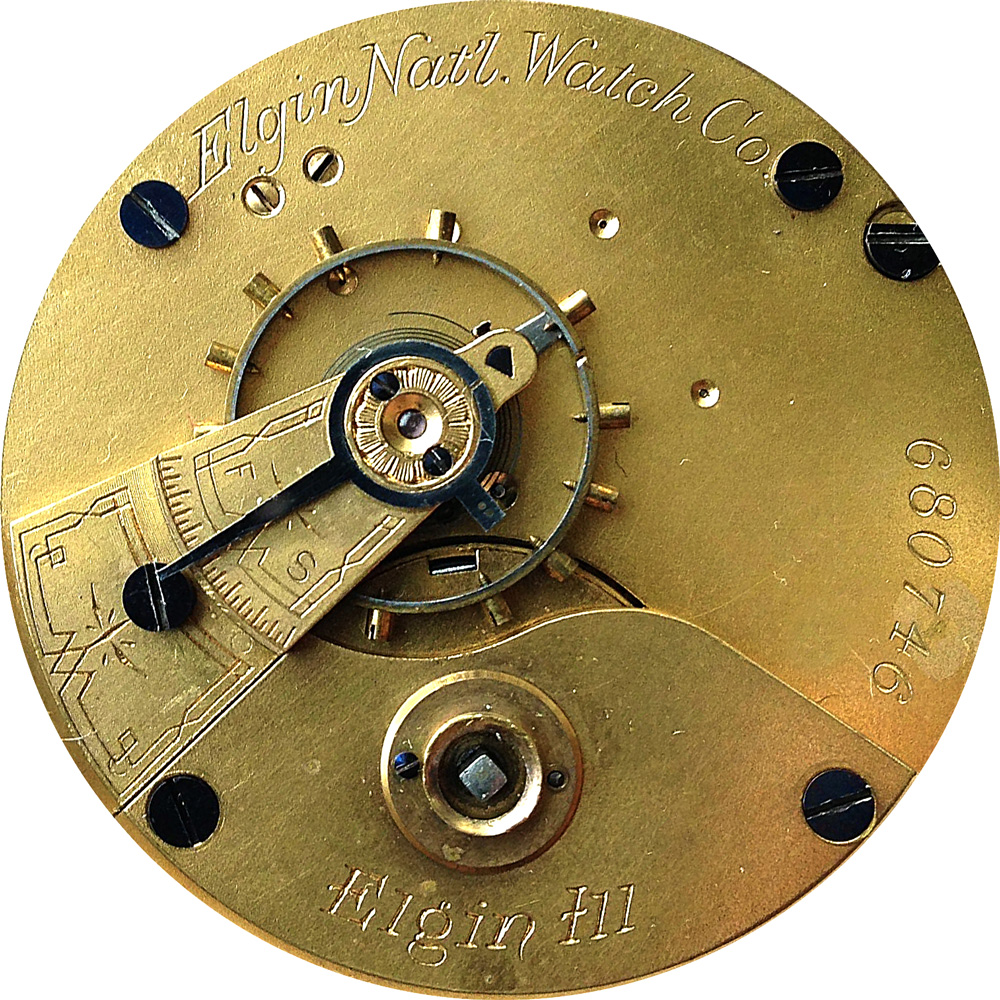 Elgin Pocket Watch Grade 7 #1812725