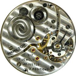 Hamilton Pocket Watch Grade 917 #X100933