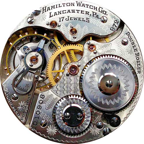 Hamilton Grade 972 Pocket Watch Movement